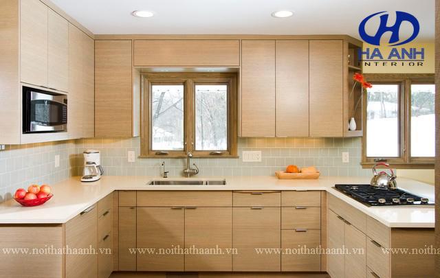 Tủ bếp MFC bền đẹp từ những dăm gỗ