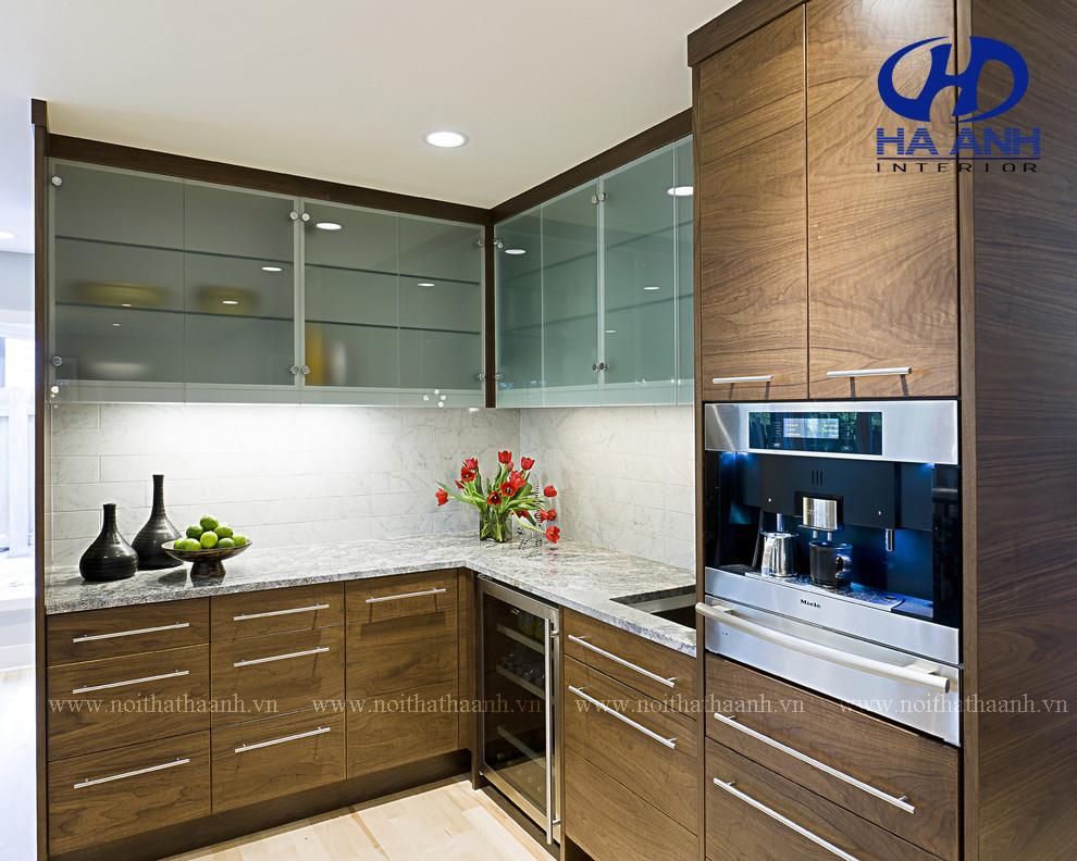 Tủ bếp MFC của nội thất Hà Anh