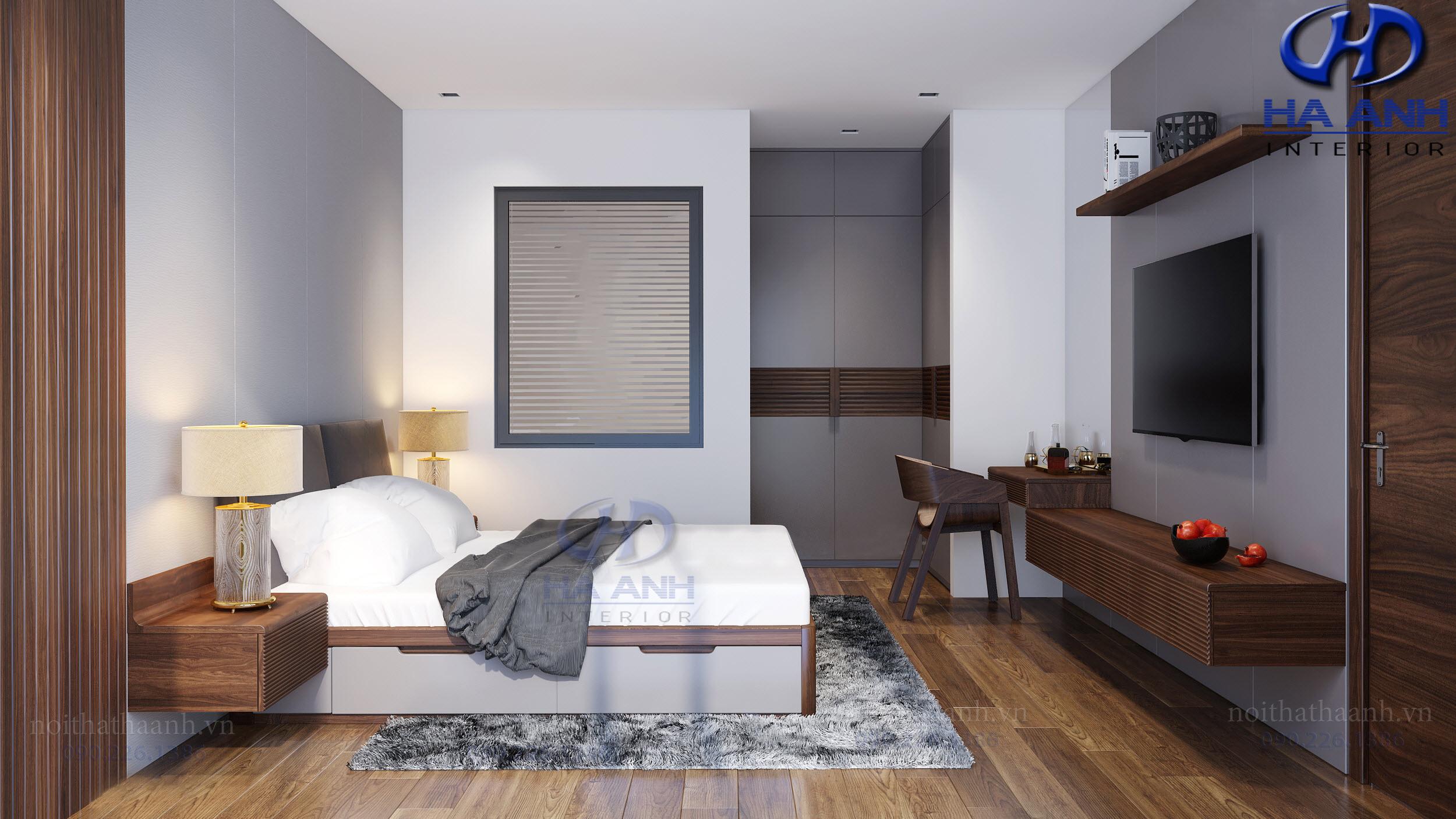 Sản xuất và thi công nội thất gia đình Anh Tuấn Le Pont DOr -  Hoàng Cầu-8