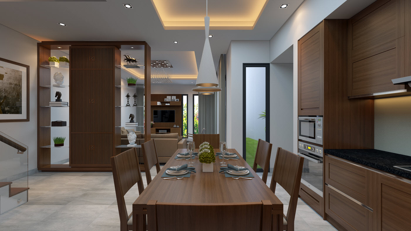 Thiết kế và thi công nội thất gia đình Chị Bích - Sơn La-3