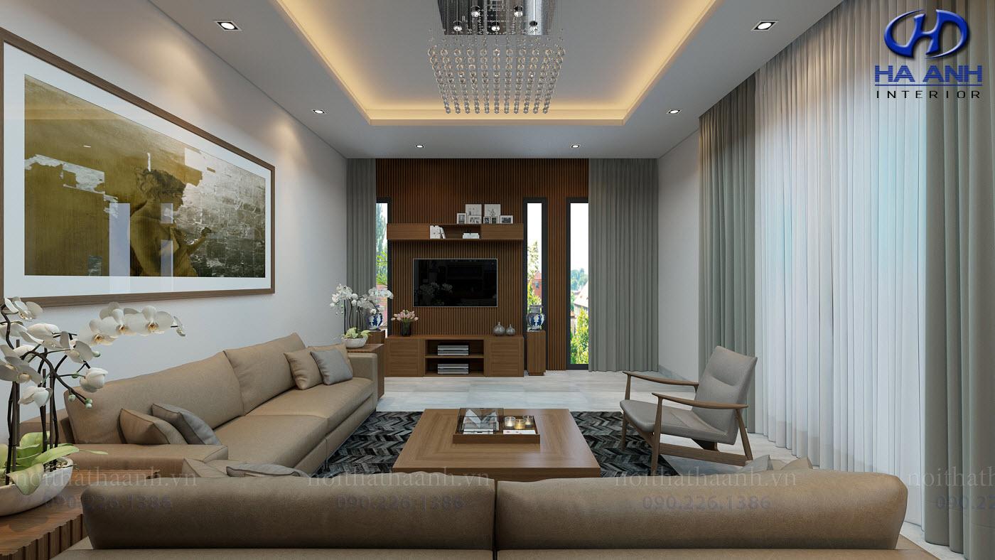 Thiết kế và thi công nội thất gia đình Chị Bích - Sơn La-1