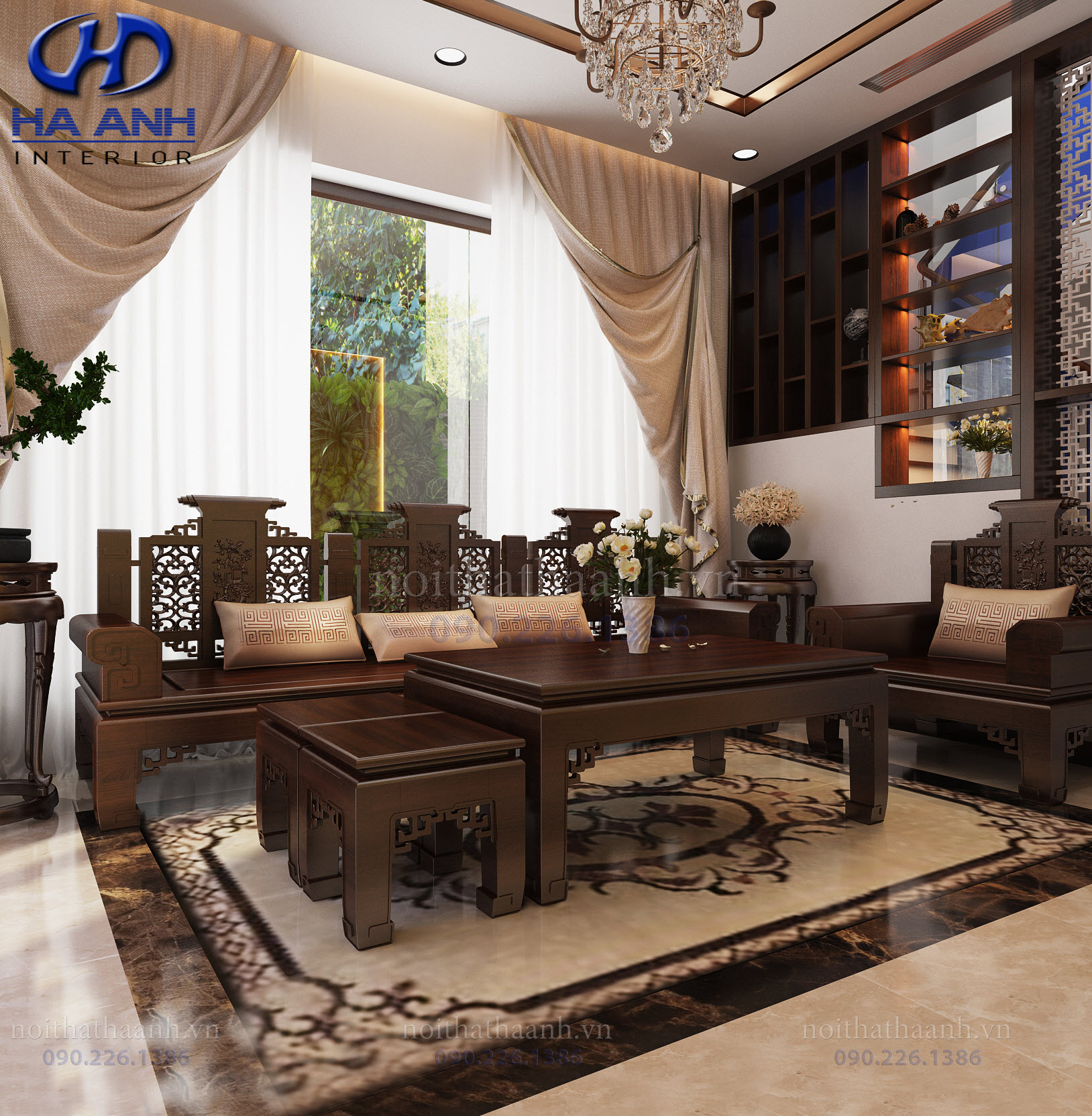 Thiết kế và thi công nội thất gia đình chị Vân TP Sơn La-1