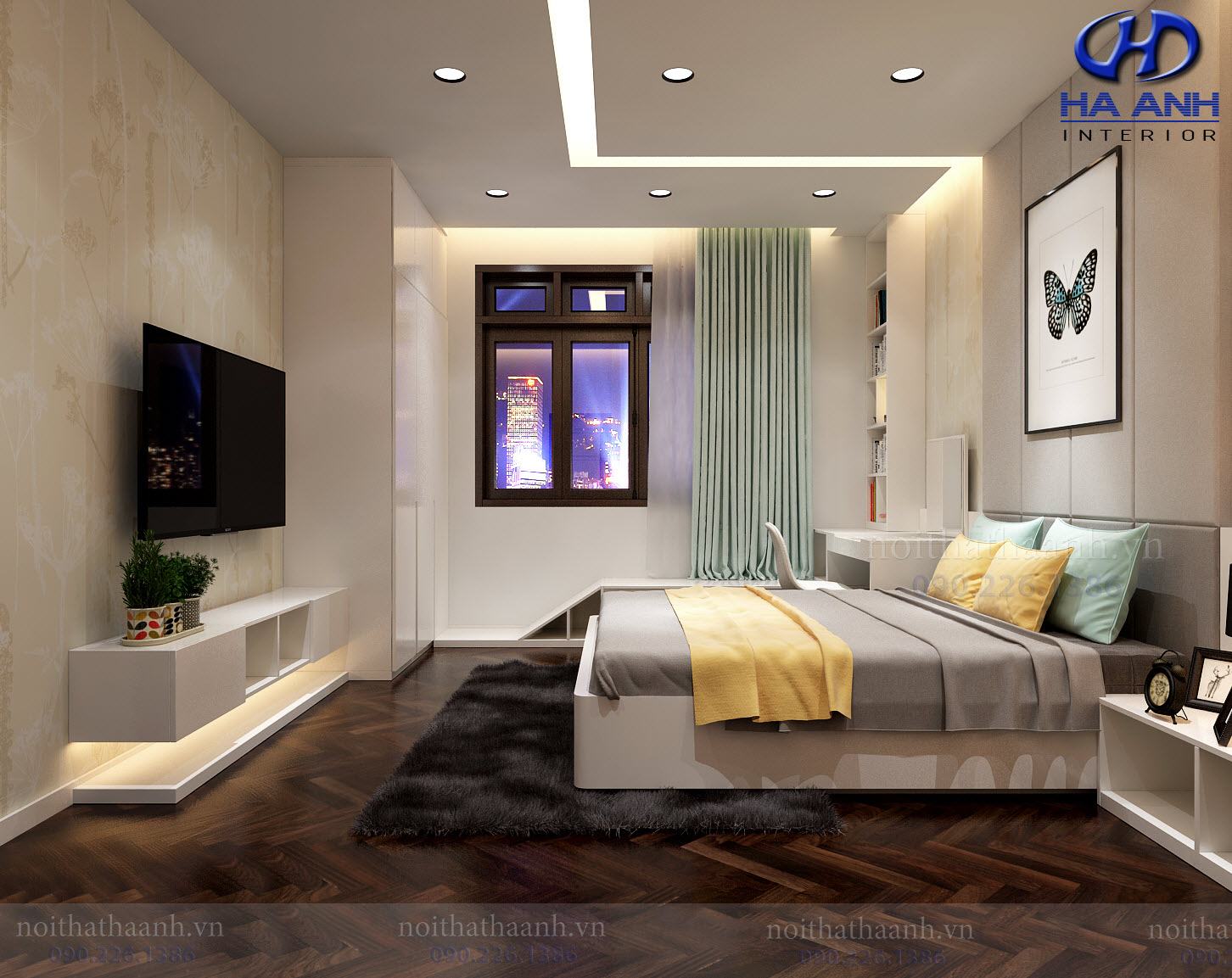 Thiết kế và thi công nội thất gia đình chị Vân TP Sơn La-5