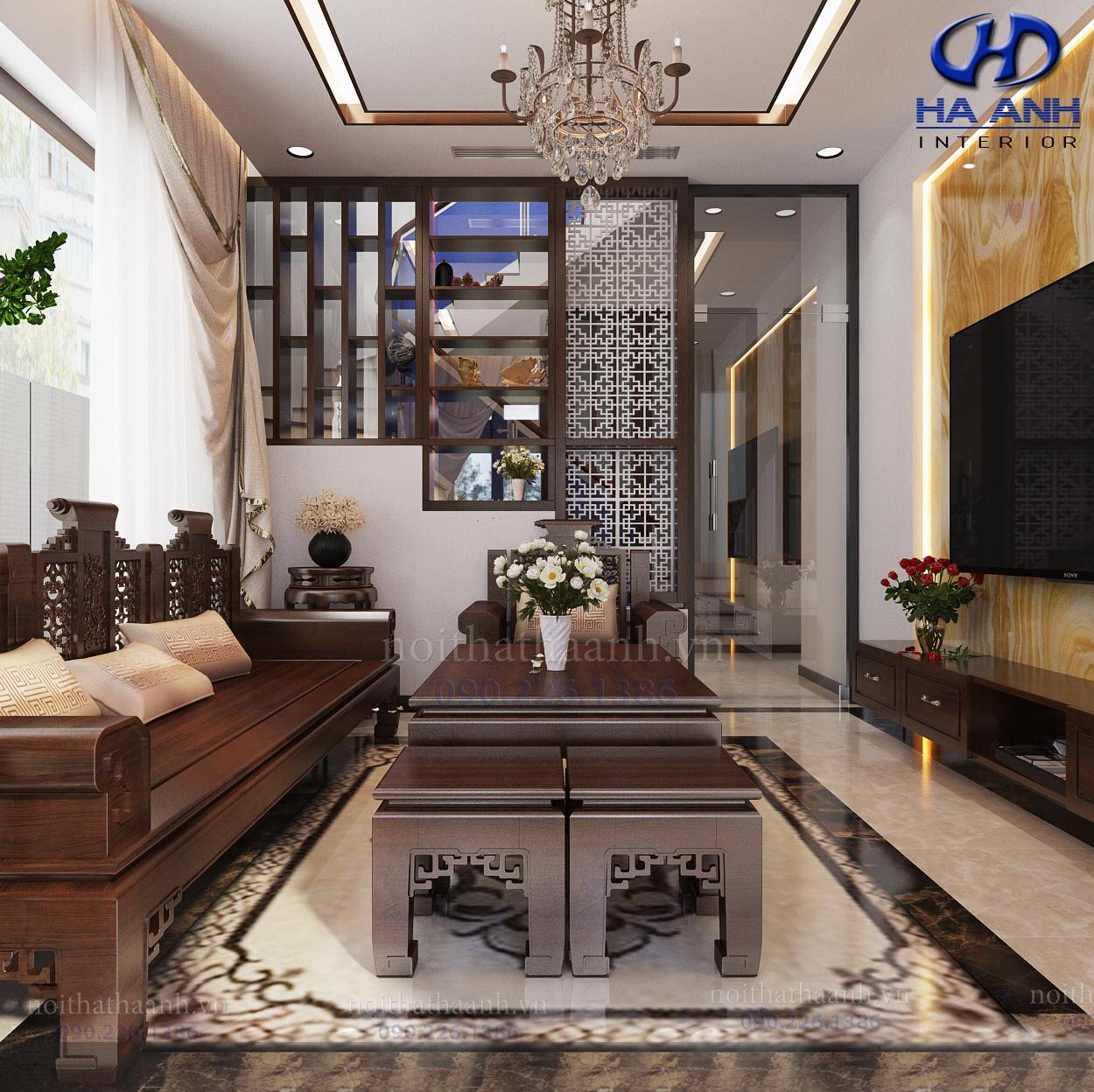 Thiết kế và thi công nội thất gia đình chị Vân TP Sơn La-2