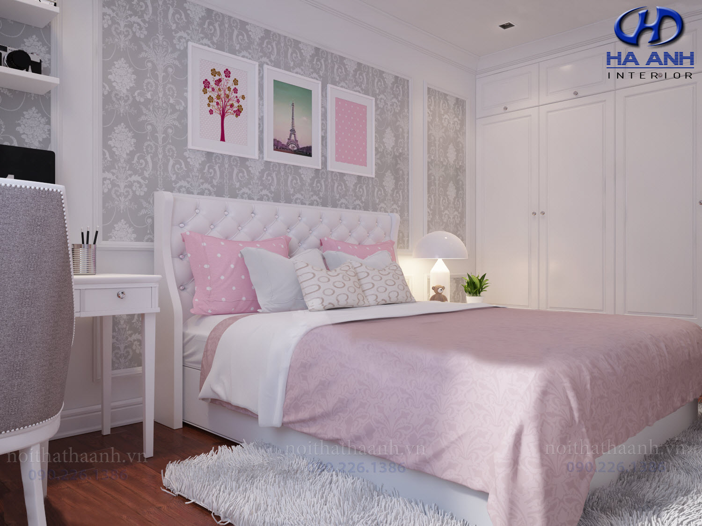 Thiết kế và thi công nội thất chung cư Le Pont D'or Chú Dũng Hoàng Cầu-3