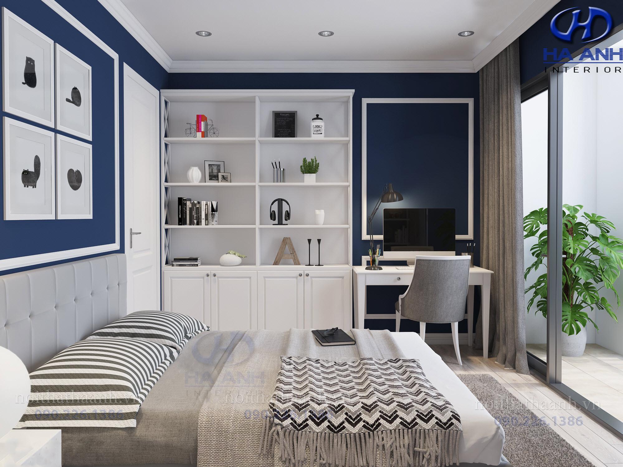 Thiết kế và thi công nội thất chung cư Le Pont D'or Chú Dũng Hoàng Cầu-7