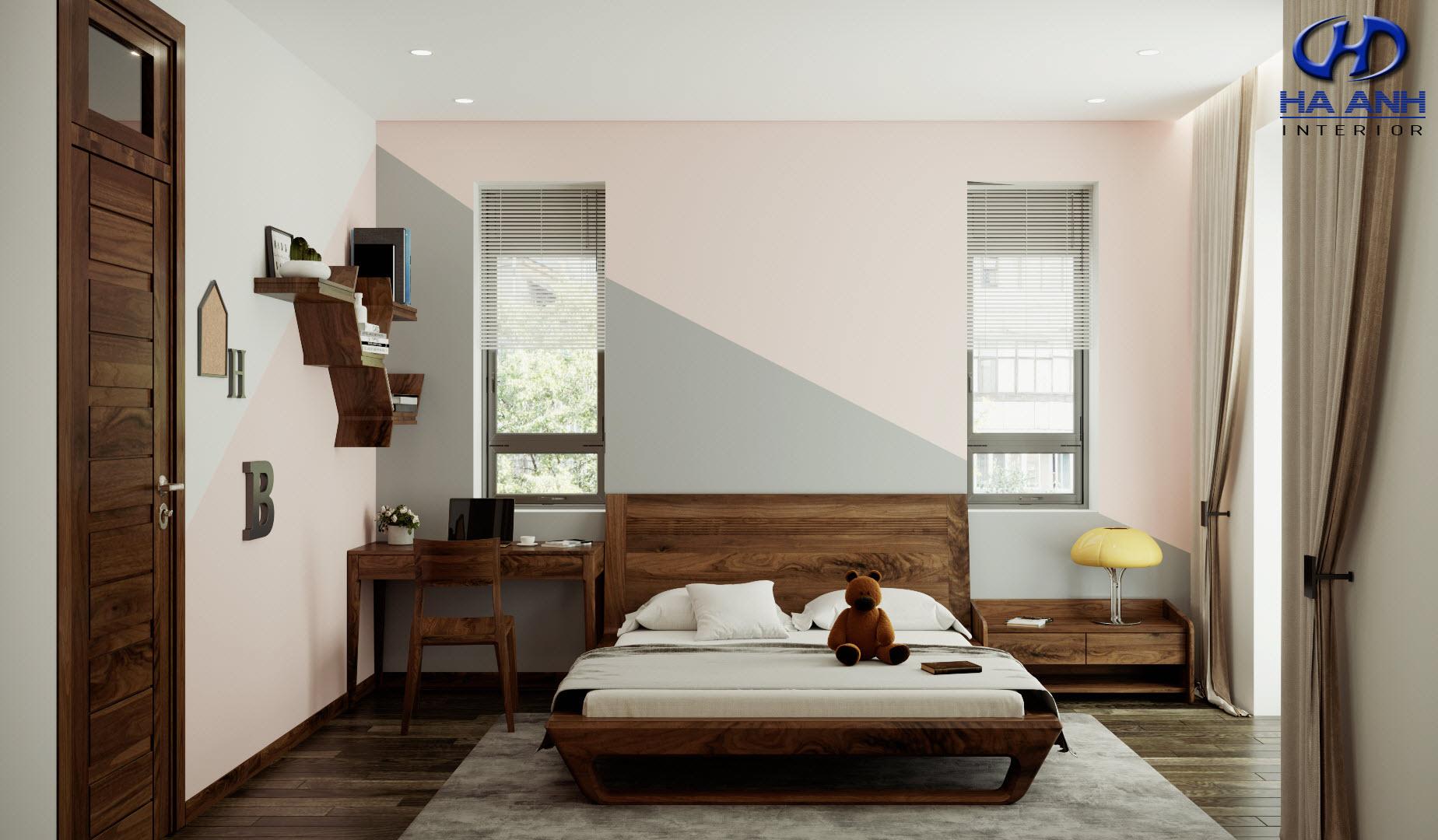Giường gỗ Óc Chó HAT-0241