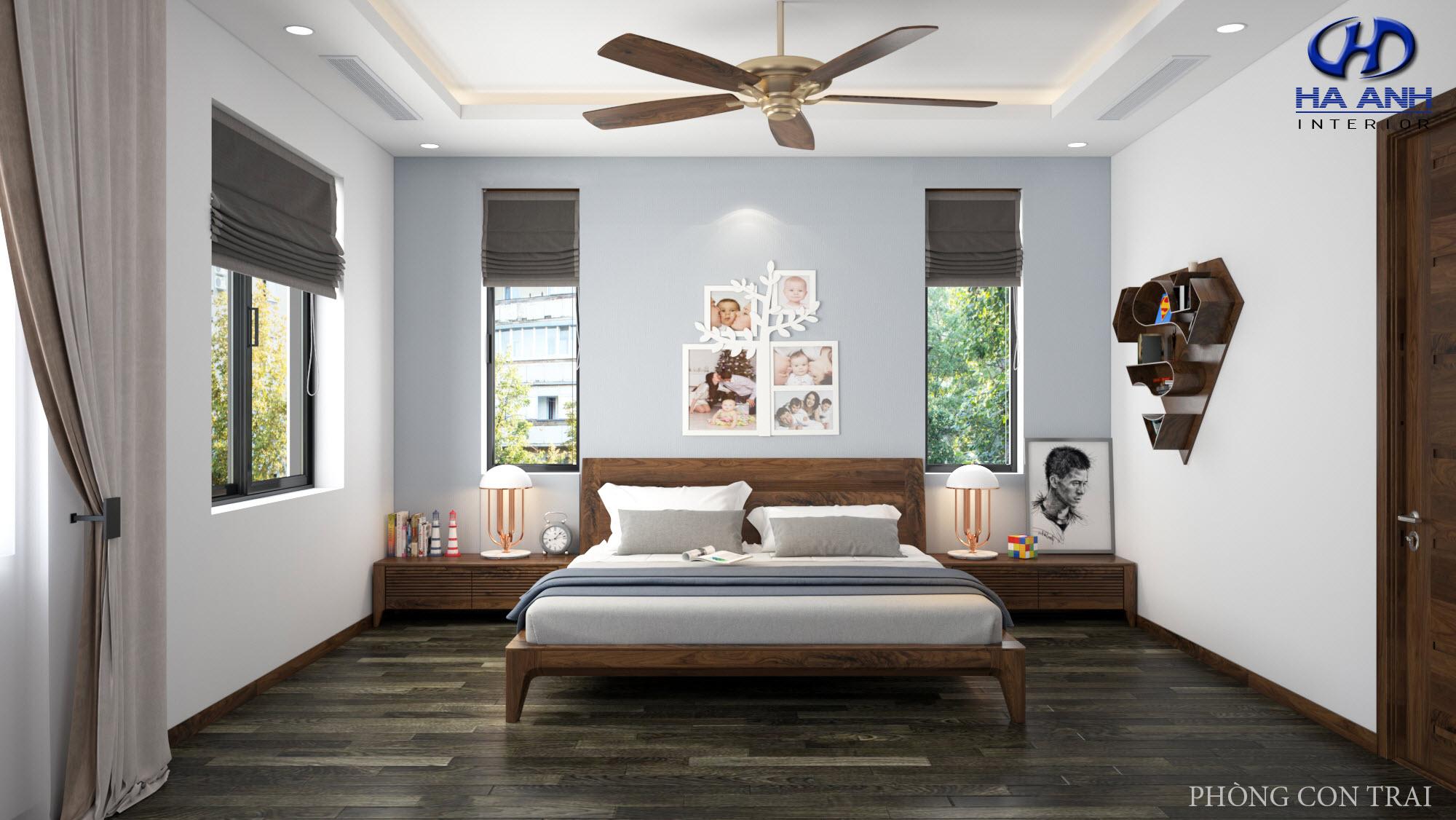 Giường gỗ Óc Chó HAT-0242