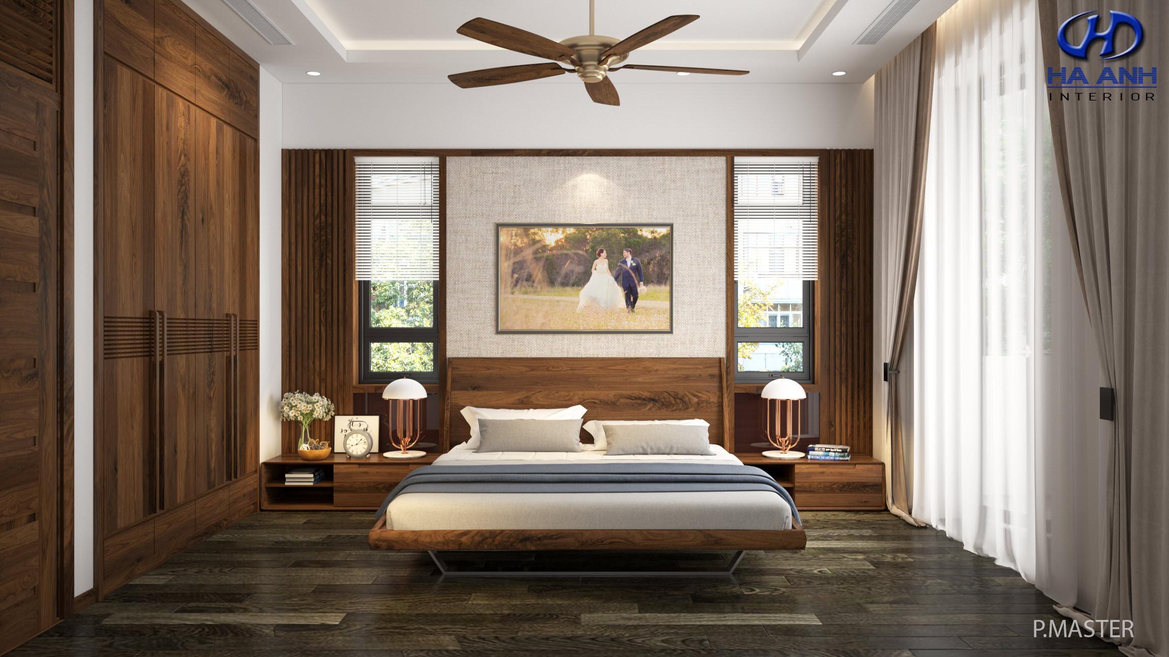 Giường gỗ Óc Chó HAT-0243