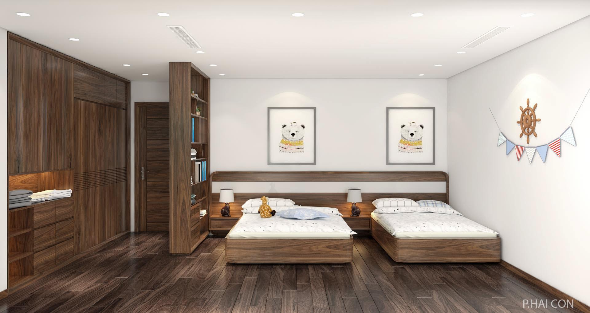 Giường gỗ Óc Chó HAT-0244
