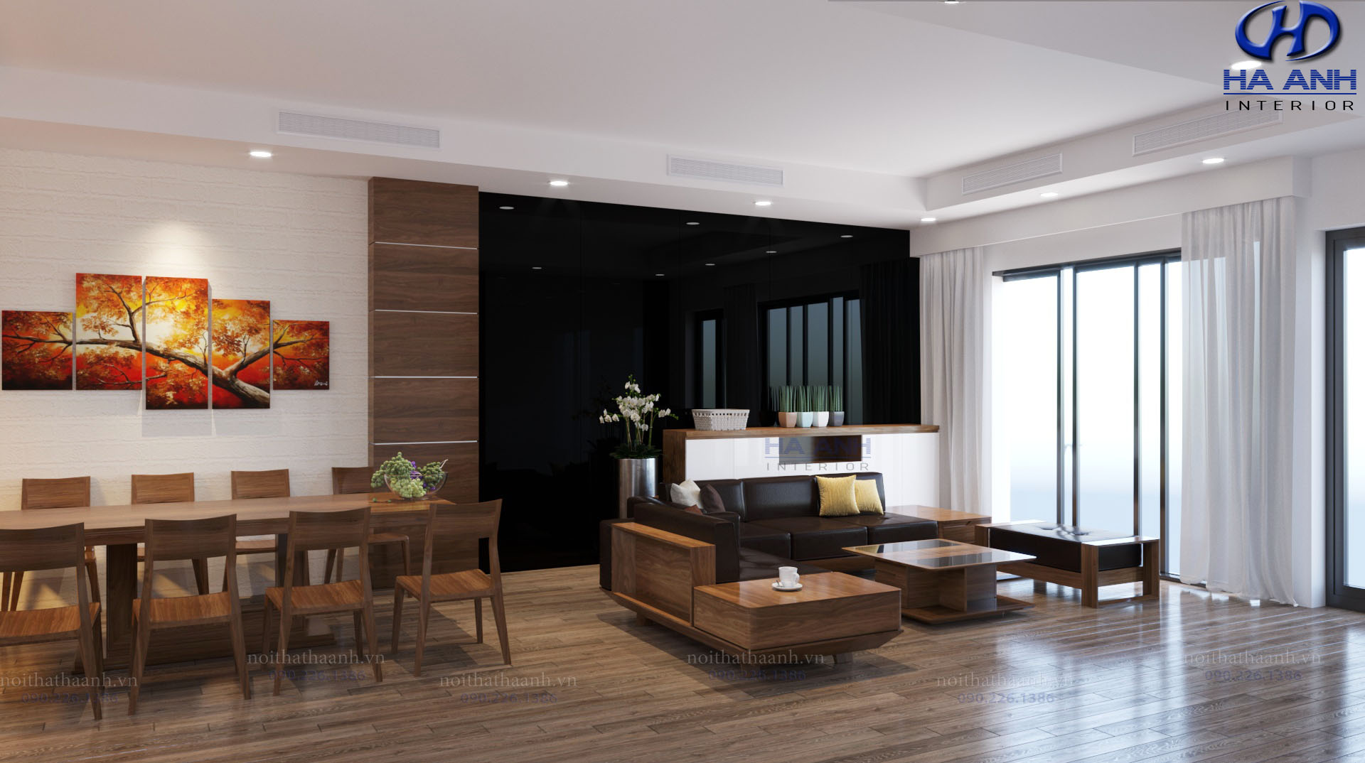Sofa gỗ tự nhiên óc chó HAS-0420