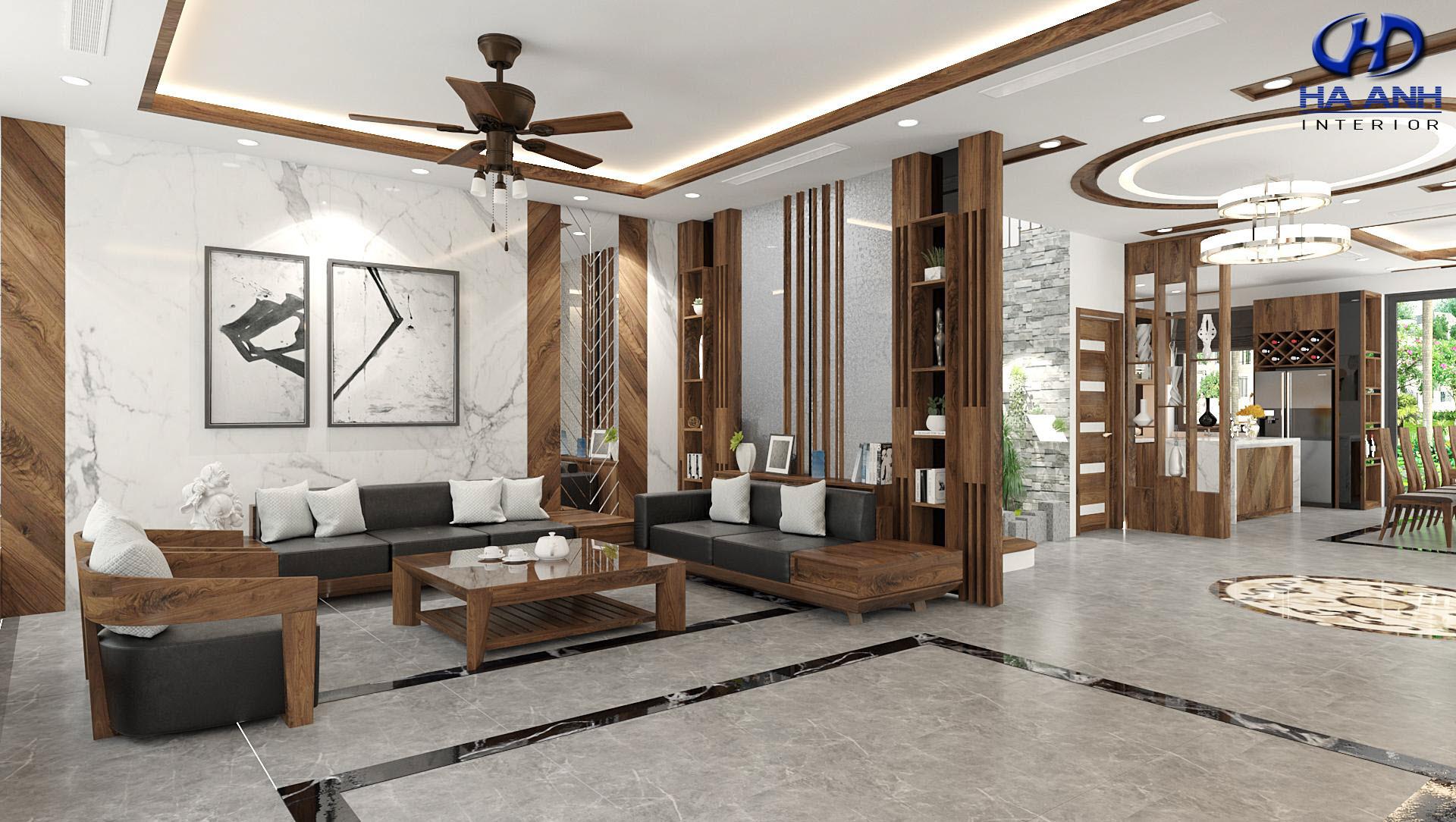 Sofa gỗ tự nhiên óc chó HAS-0424