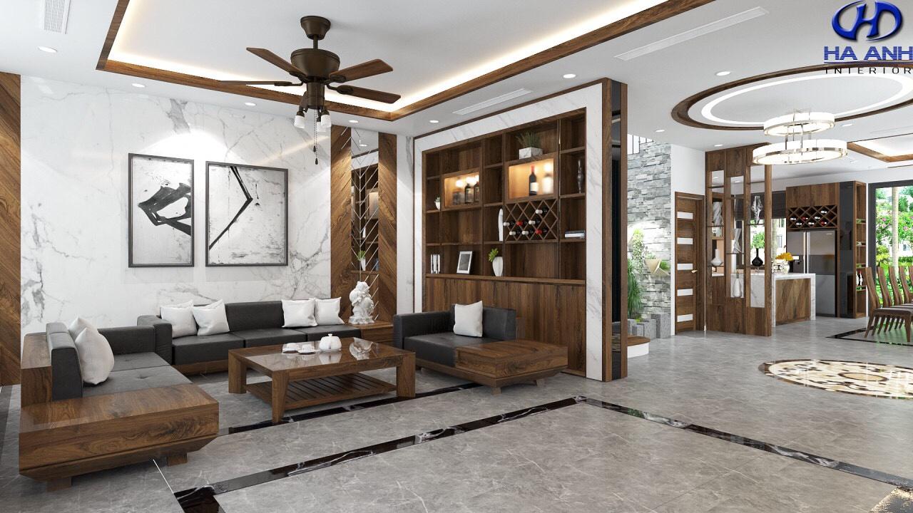 Sofa gỗ tự nhiên óc chó HAS-0425