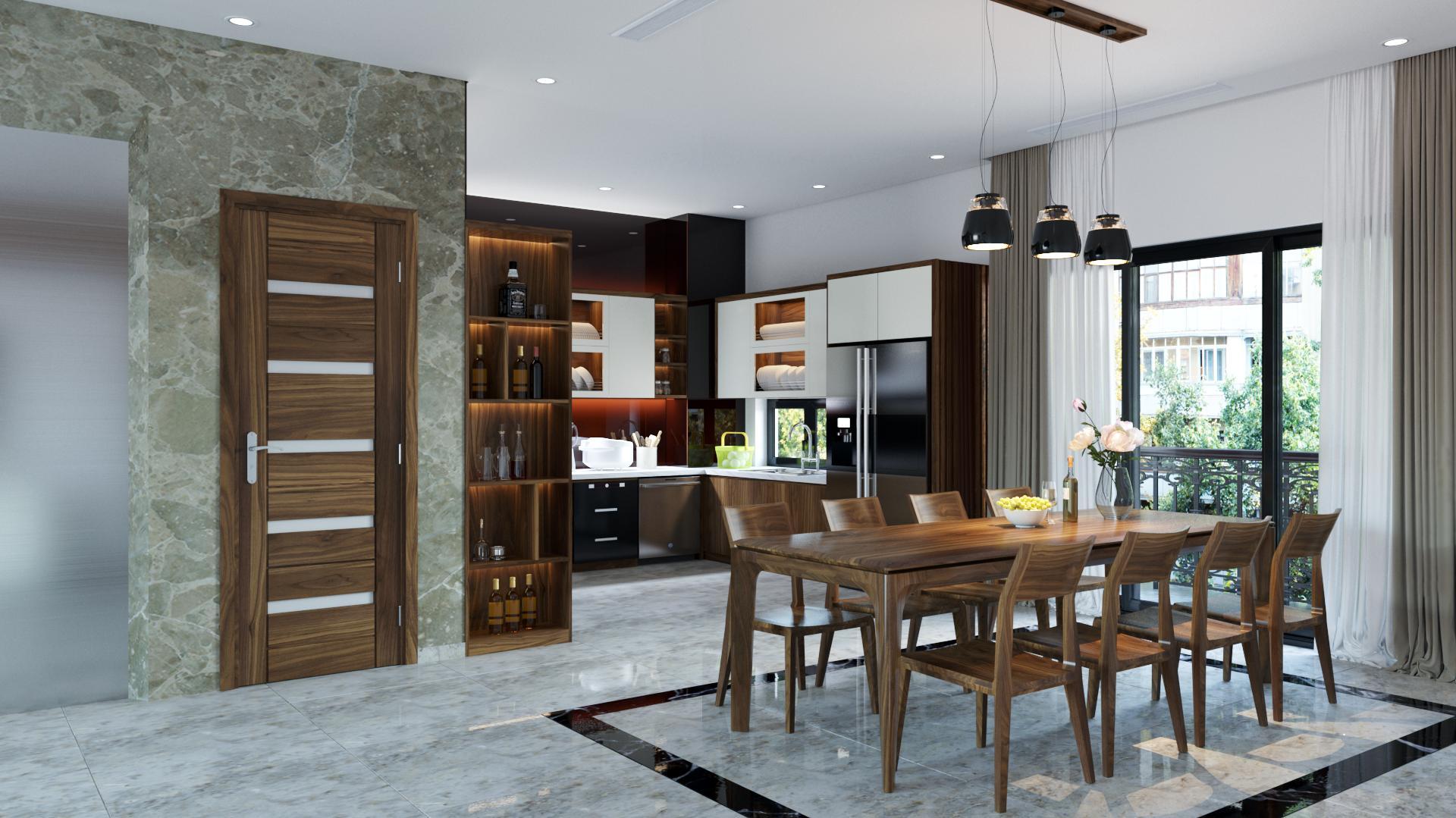 Tủ bếp óc chó HAG 0123