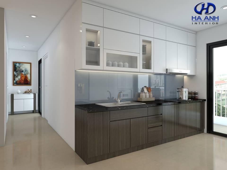 Tủ bếp veneer HA 30211