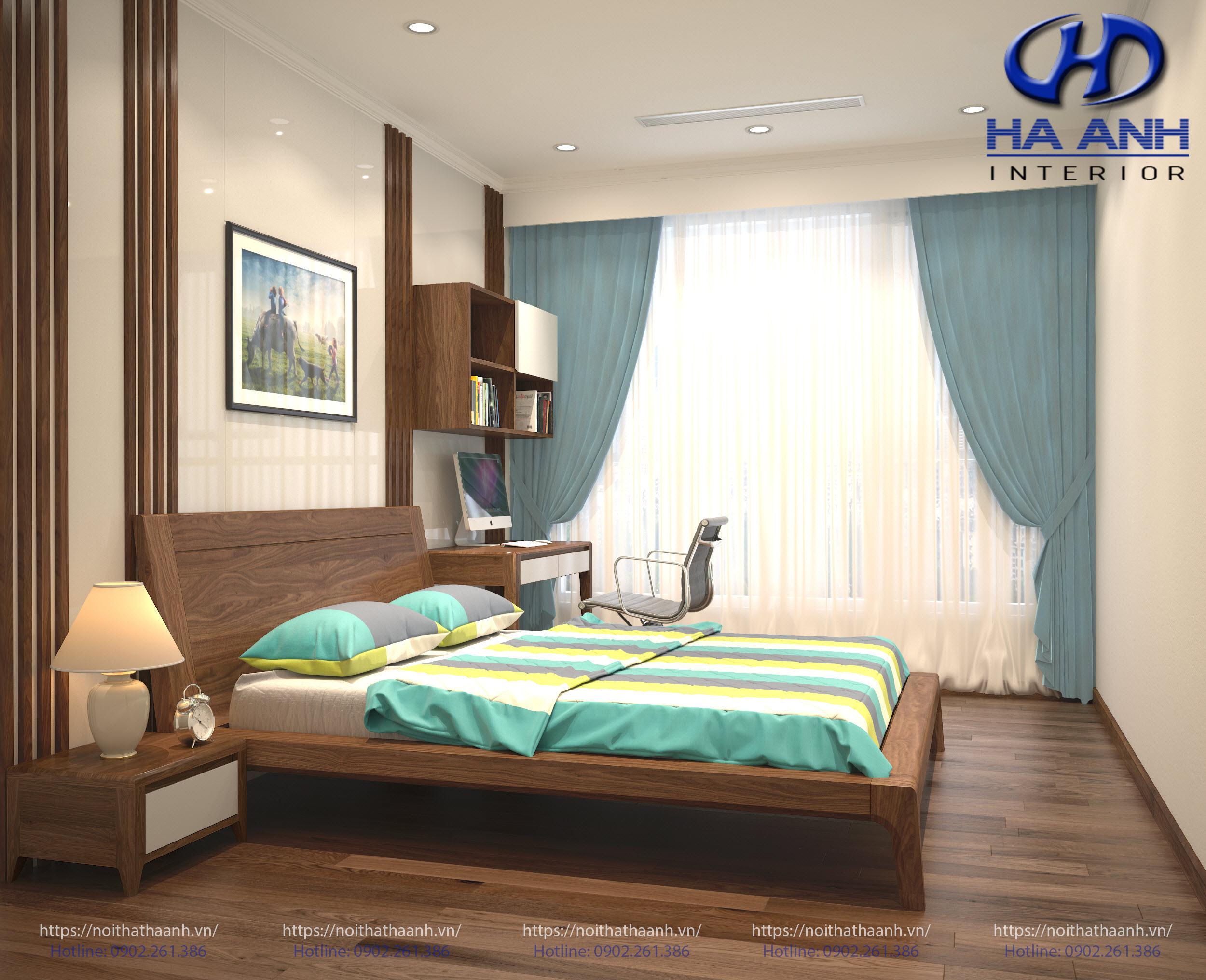 Giường ngủ gỗ Óc Chó tự nhiên HAT-0232-1