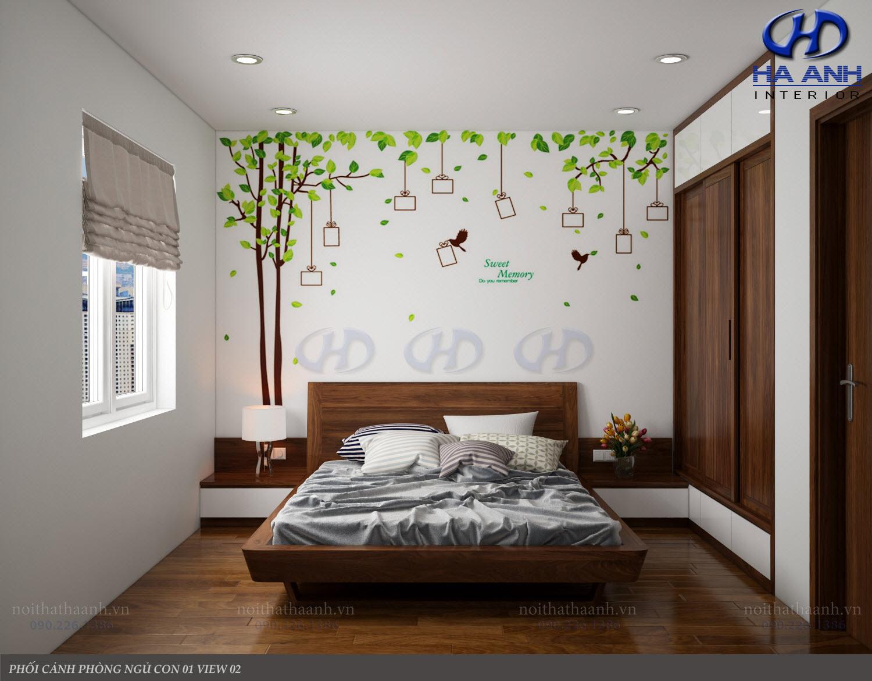 Giường ngủ gỗ Óc Chó tự nhiên HAT-0234