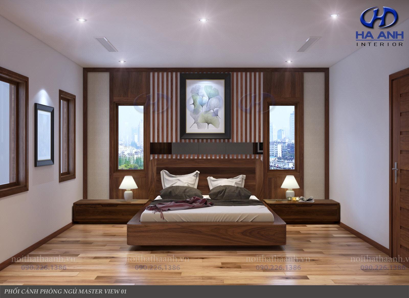 Giường ngủ gỗ Óc Chó tự nhiên HAT-0235