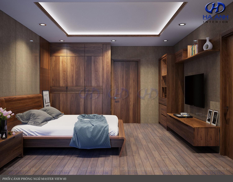 Giường ngủ gỗ Óc Chó tự nhiên HAT-0236