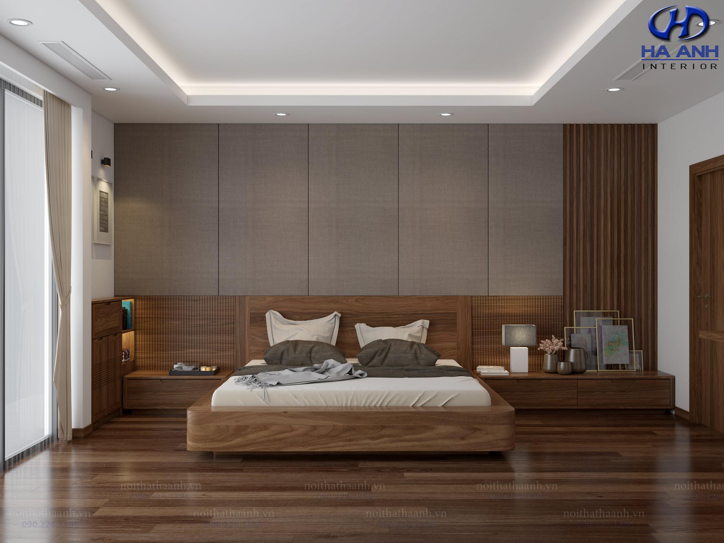 Giường gỗ Óc Chó HAT-0237