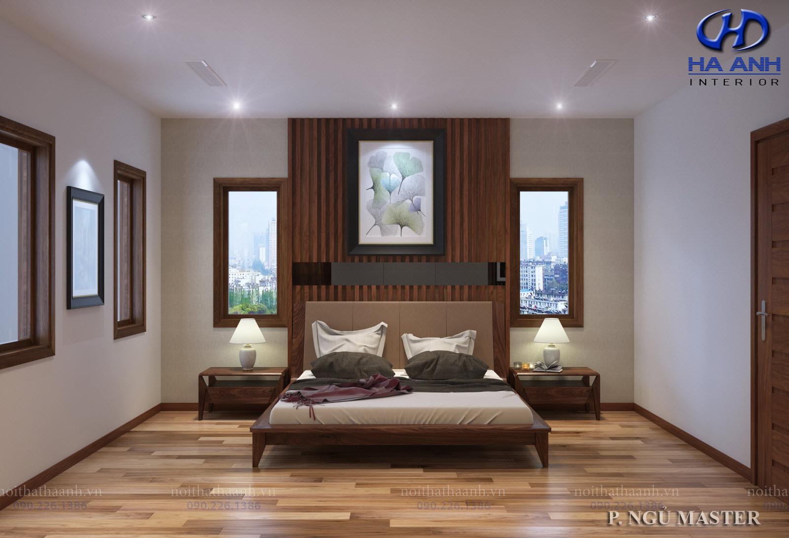 Giường gỗ Óc Chó HAT-0238
